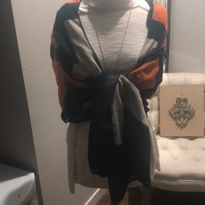 Brown, ivory and pumpkin colored scarf!